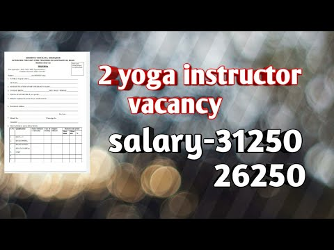 2 Yoga Instructor Vacancy Salary 31250, 26250   Yoga Instructor Vacancy 2021   Kvs Recruitment 2021