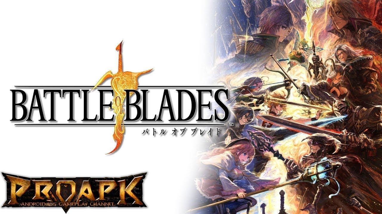 BATTLE OF BLADES Android Gameplay (by SQUARE ENIX) (JP) (CBT)