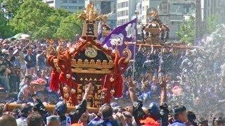深川八幡祭り2012_神輿連合渡御_永代二丁目交差点
