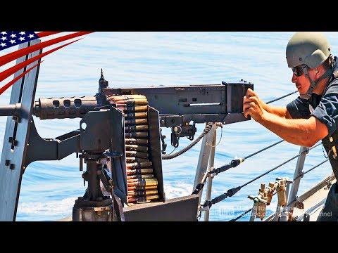Aircraft Carrier Crews Shoot .50-Caliber Machine Gun in Live-Fire Exercise