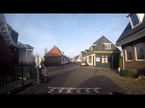 Amsterdam noord.  Buiksloterdijk Landsmeerderdijk Oostzaanerdijk en Wilmkebreekpolder..   Dec 2015.
