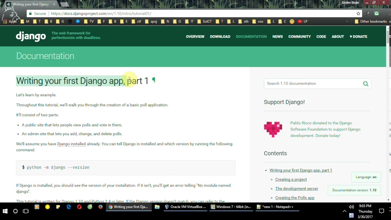 How to deploy a Django project on Windows system
