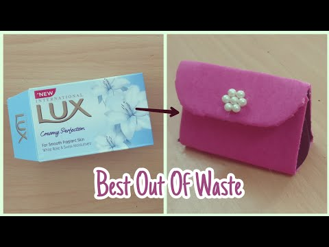 Cute Purse With Soap Box | DIY | Best Out Of Waste | Soap Box Craft Ideas