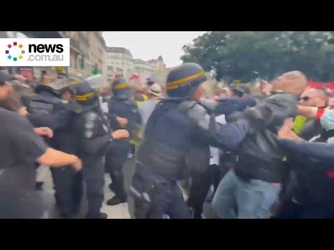 Paris protests against COVID health pass get violent