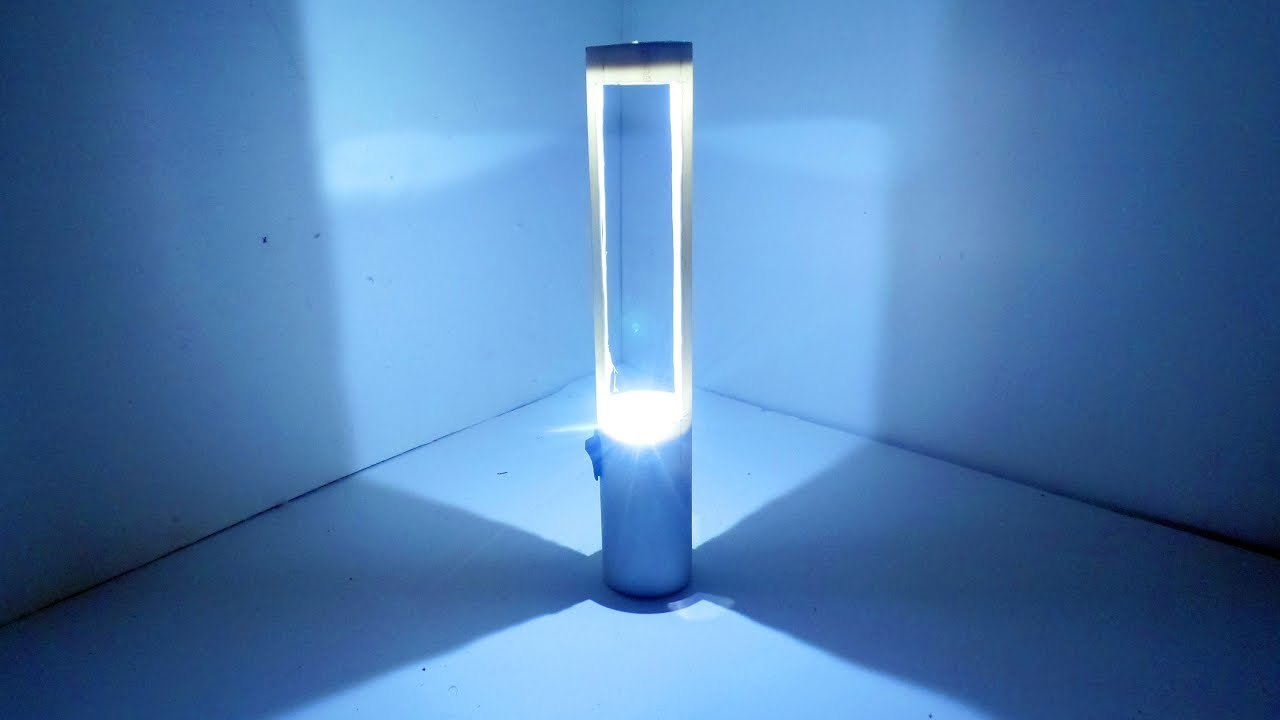 How To Make A Table Lamp With Plastic Pipe U0026 LED।Table Lamp DIY। Mad Tools
