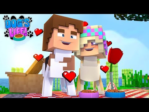 Minecraft PUPPY LEAH AND PUPPY DONNY FALL IN LOVE!!! DOG'S LIFE w/ LITTLE DONNY!!!