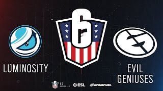 Luminosity vs. Evil Geniuses | Rainbow Six: US Nationals - 2019 | Stage 3 | Western Conference Semif