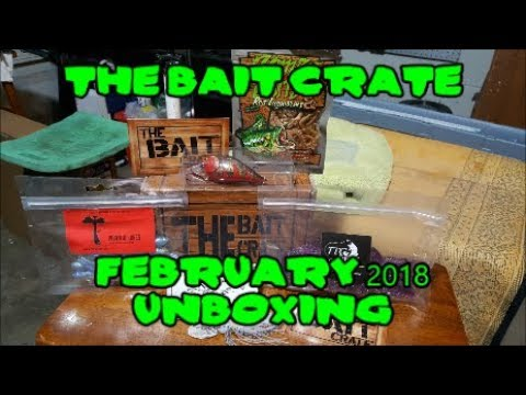 THE BAIT CRATE February 2018!!! Unboxing!!!