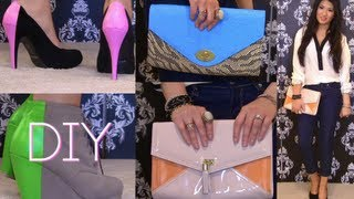 Style DIY: COLOR BLOCK Bags & Shoes in 30 Minutes♥