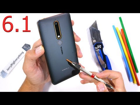 Nokia 6.1 Durability Test! Scratch BURN and BEND tested!