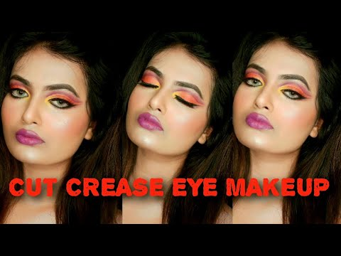 cut crease eye makeup tutorialcut crease eye makeup