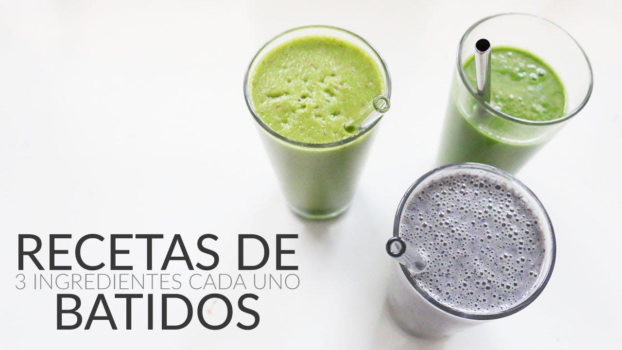 Recetas de Batidos / Licuados (de frutas + verdes