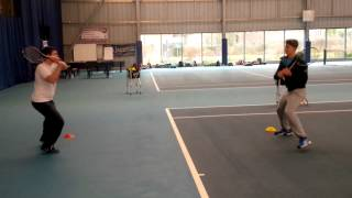 Shadow tennis warm up drill - Greg Spooner Level 3 student