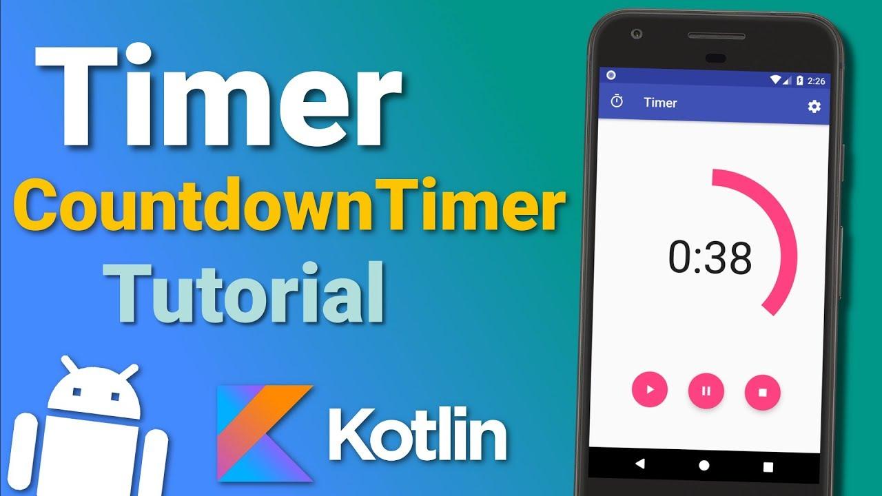 Make a Timer App: Countdown Timer (Ep 2) – Android Kotlin Tutorial