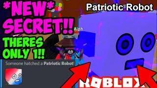 * NEU * PATRIOTISCHE ROBOTER GEHEIME HAUSTIER!! NEUE BESTE HAUSTIER!! (Bubble Gum Simulator Roblox)