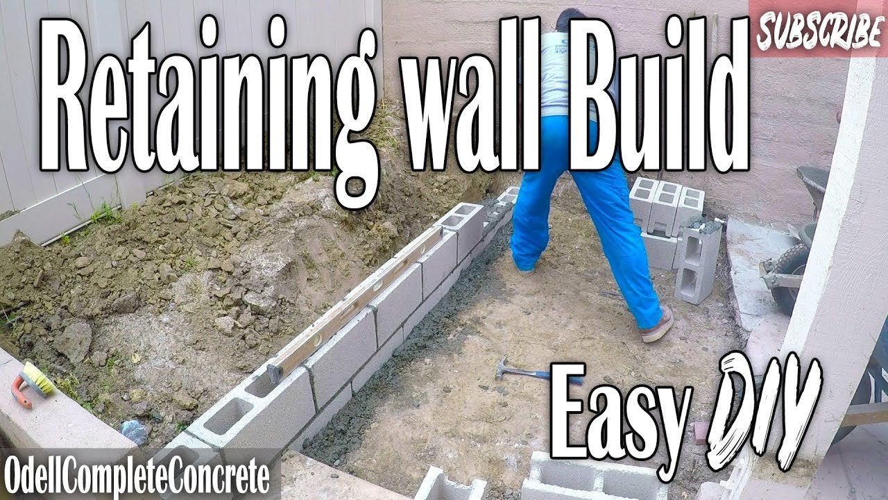 How to Build a Small Retaining Wall Easy DIY