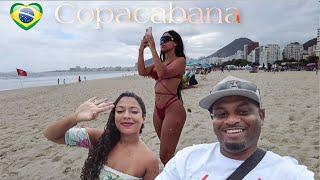 BRAZIL -RIO DE JANEIRO 🇧🇷 From Leme To Copacabana Beach -2021