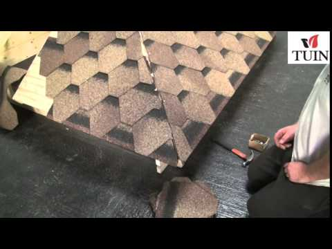 Tuin Fitting Felt Shingles Pyramid Roof Youtube