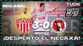 Resumen y goles   Necaxa 3-0 Tijuana   Grita México BBVA AP2021 - J11   TUDN