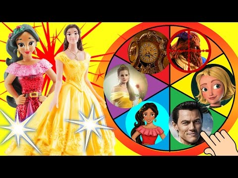 Beauty and the Beast Movie & Elena of Avalor Spin The Wheel Game! Fun with Toy surprises!