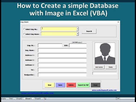 How To Create A Simple Database With Image In Excel Vba