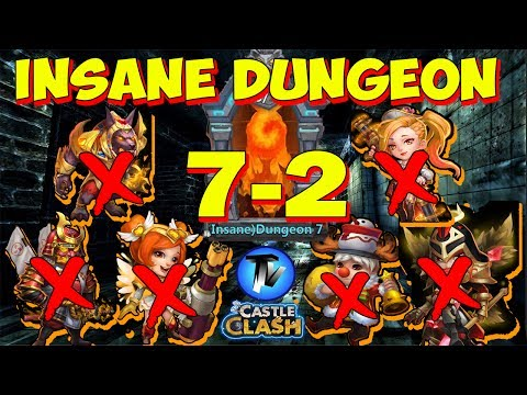 Castle Clash - Insane Dungeon 7-2 Without Anubis, Mike, Nick, Ronin, HB, GS