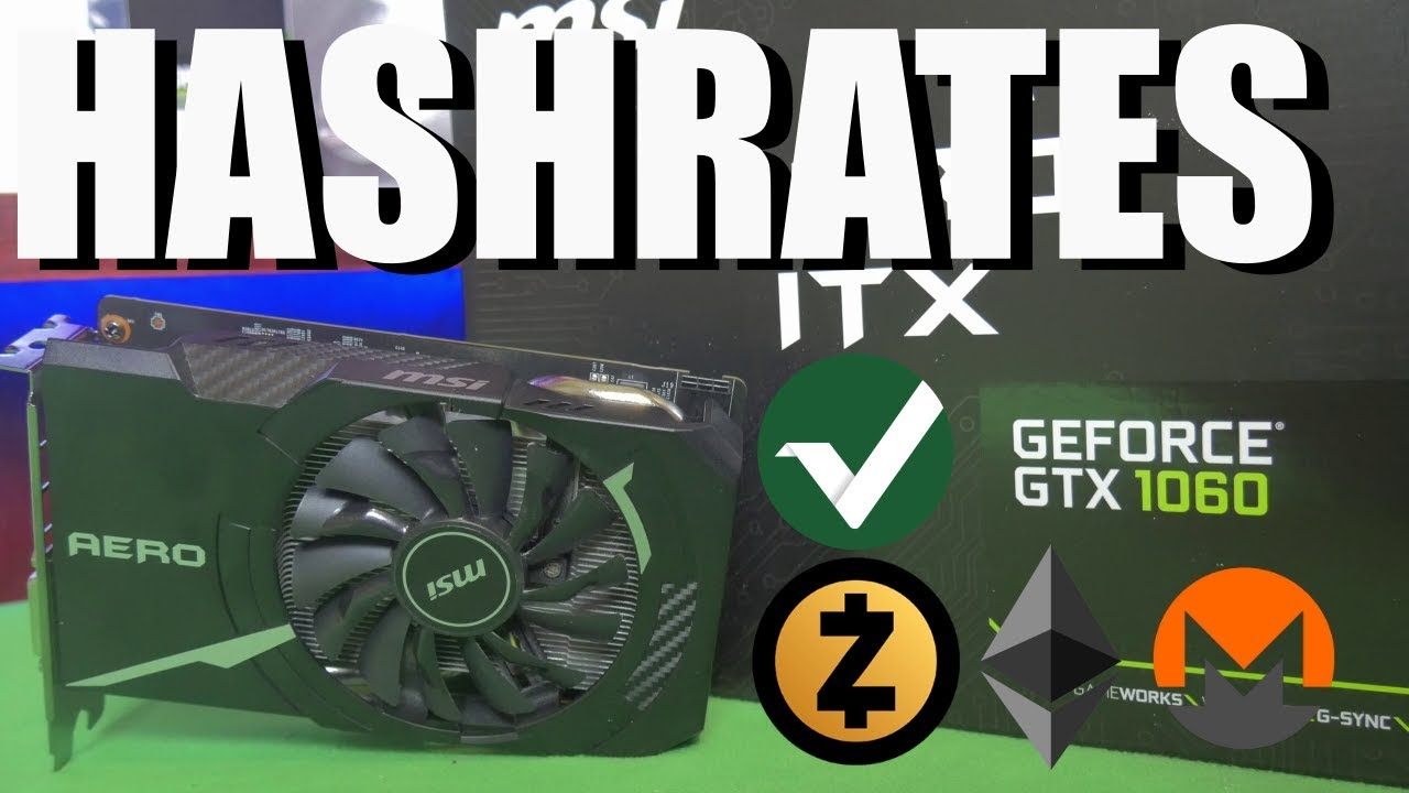 GTX 1060 3GB Hynix Hashrate | Zcash | Monero | Ethereum | Vertcoin |