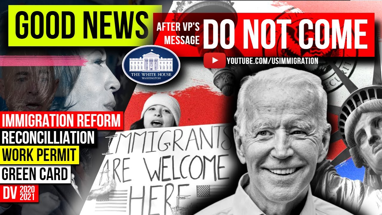 """US Immigration Reform Good News after """"DO NOT COME"""" Msg: Reconciliation Green Card, EAD, US Visa, DV"""