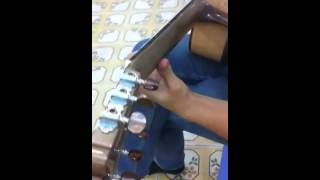 Test Âm Thanh Đàn Guitar Gỗ Còng