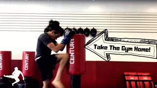Century Wavemaster Bag Workout! Drills you can do at home for Kickboxing!