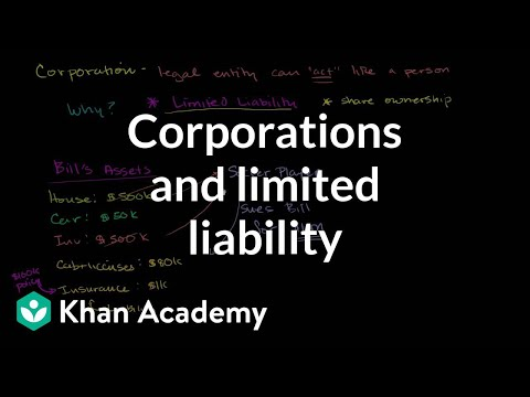 Corporations and limited liability | Taxes | Finance & Capital Markets | Khan Academy from YouTube · Duration:  9 minutes 58 seconds