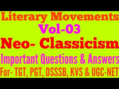 Literary Movements Neo Classicism Restoration Age Augustan