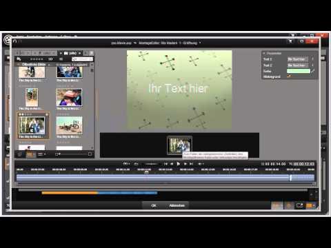 Montagethema anwenden in Pinnacle Studio 16 und 17 Video 63 von 114