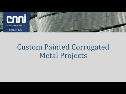 Custom Painted Corrugated Metal Projects