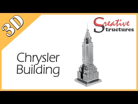 3D metal model & puzzle - Chrysler Building (United States Architecture)