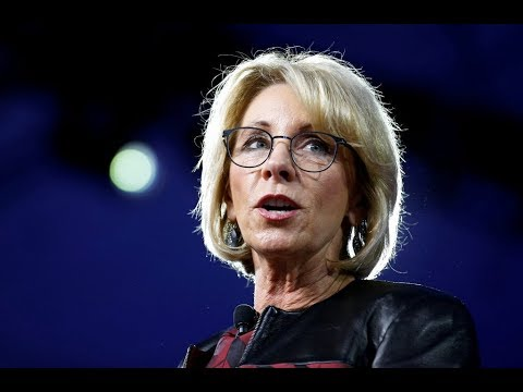 WATCH LIVE: Education Sec. DeVos to speak on Title IX guidelines