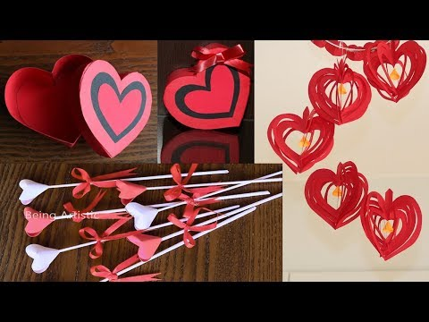 3 Simple & Beautiful Valentines Day Crafts - Paper Crafts  -  DIY Crafts Compilations