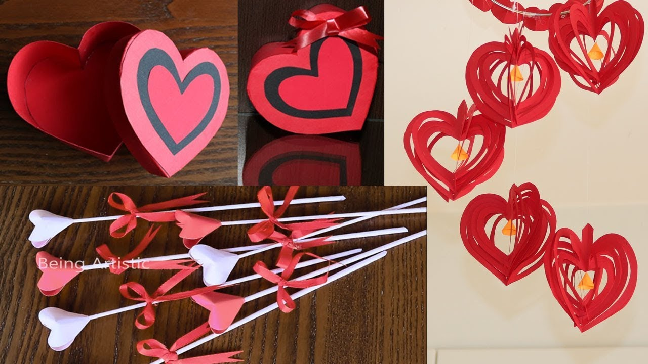 3 Simple Beautiful Valentines Day Crafts Paper Crafts Diy