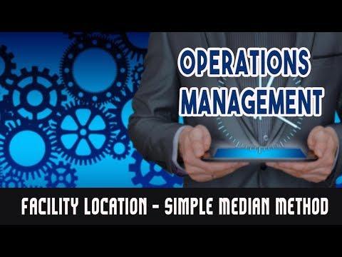 Facility Location - Simple Median Method