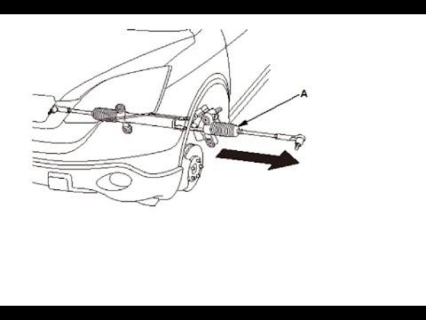 Снятие рулевой рейки Honda CR-V 2.4