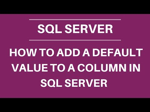 How To Add Default Value To Column In Sql