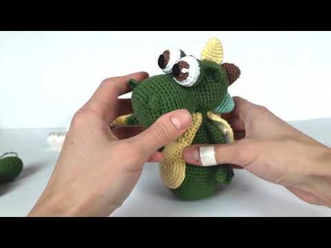 динозавр крючком вязаные игрушкивязание для начинающихcrochet