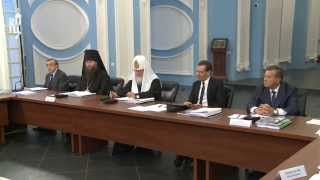 Патриарх Кирилл и Д.А. Медведев возглавили заседание по восстановлению Ново-Иерусалимского монастыря