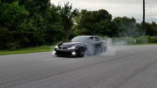Lexus isf massive burnout