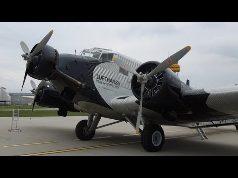 Lufthansa Junkers Ju 52 D-AQUI Sightseeing Flight Over Hamburg (No Cuts)