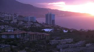 Sunset in Tenerife Spain captured by earthTV camera Sep 2019