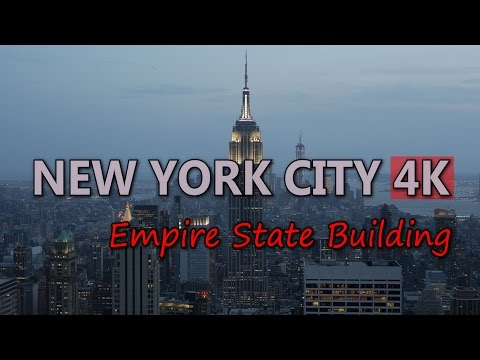 Ultra HD 4K New York City Empire State Building Travel Sights NYC Landmark UHD Video Stock Footage