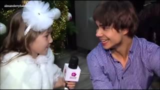 Александр Рыбак - Интервью детской телешколе на Новогоднем шоу в Киеве