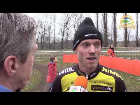 Lars Boom na de wedstrijd (NK Veldrijden 2017)
