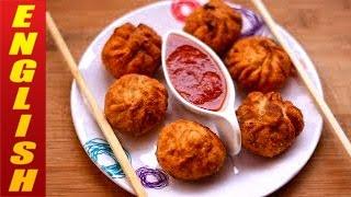 Chicken Momos Fried  Chicken Dim Sum  Chinese Recipes  Chicken Recipes